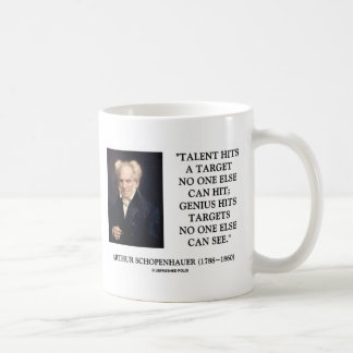 Schopenhauer Talent Genius Hits Targets No One See Coffee Mug