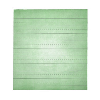 SCHPPR GREEN SCHOOL LINED PAPER EDUCATION BACKGROU NOTEPAD
