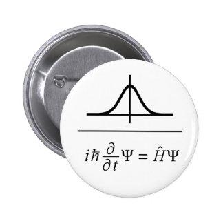 Schrodinger Equation Pinback Buttons
