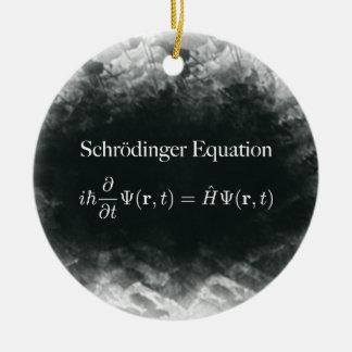 Schrödinger Equation Math & Quantum Physics Ceramic Ornament