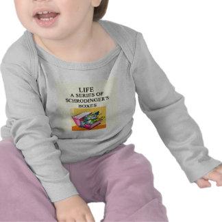 schrodinger s cat box joke t-shirts