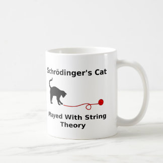 Schrödinger's Cat Played With String Theory Coffee Mug