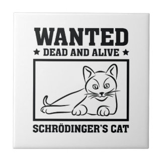 Schrodinger's Cat Ceramic Tile