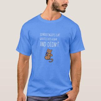 Schrödinger's Cat Walked Into a Bar Palace Blue T-Shirt