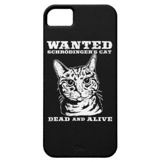 Schrodinger's cat wanted dead or alive iPhone 5 covers