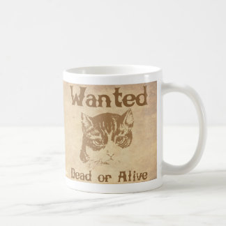 Schrodinger's Cat Wanted Poster Classic White Coffee Mug