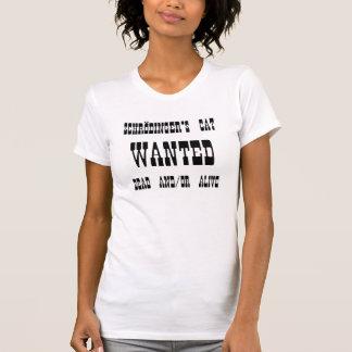 Schrödinger's Cat Wanted Poster T-Shirt