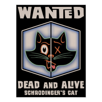 Schrodinger's Cat Wanted Posters
