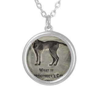 schrodingers cat zombie silver plated necklace