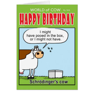Schrodinger's Cow Card