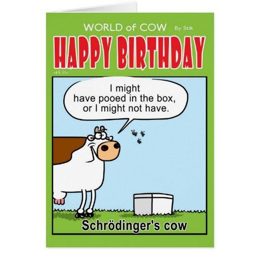 Schrodinger's Cow Card