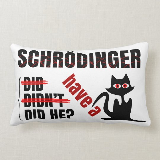 Schrodinger's Dillema Lumbar Pillow