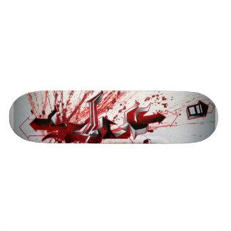 Schu Red graffiti Skateboard