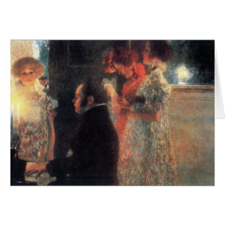 Schubert at the piano by Gustav Klimt Card