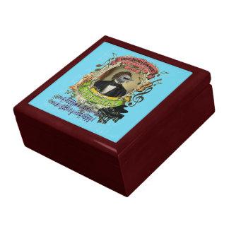Schubert Bird Animal Composer Schubert Parody Fun Trinket Box