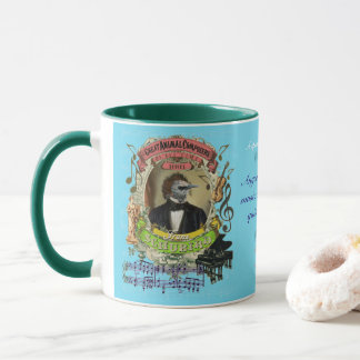 Schubird Funny Bird Animal Composer Franz Schubert Mug
