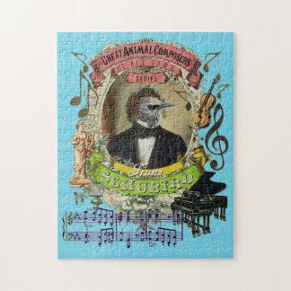 Schubird Great Animal Composer Schubert Parody Jigsaw Puzzle