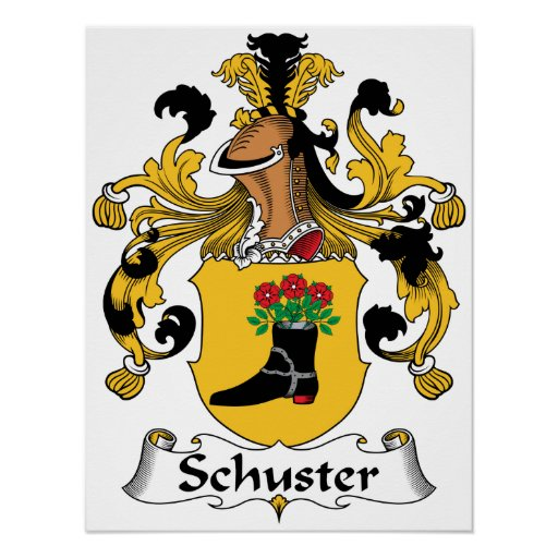 Schuster Family Crest Poster