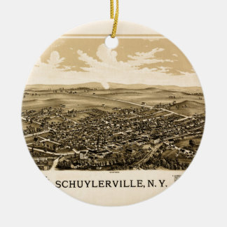 schuylerville1889 ceramic ornament
