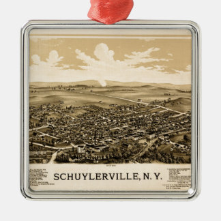 schuylerville1889 metal ornament