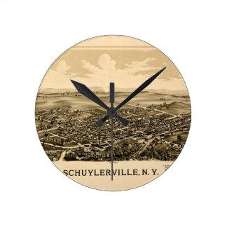 schuylerville1889 round clock