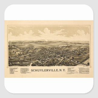 schuylerville1889 square sticker