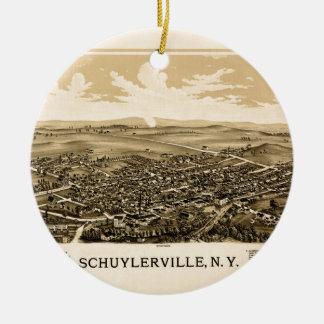 Schuylerville 1889 ceramic ornament