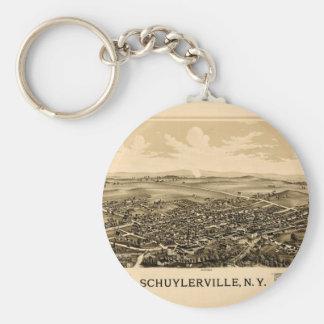Schuylerville 1889 keychain