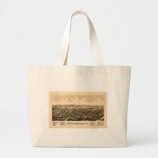 Schuylerville 1889 large tote bag