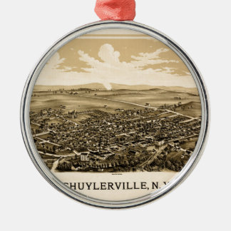 Schuylerville 1889 metal ornament