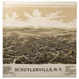 Schuylerville 1889 napkin