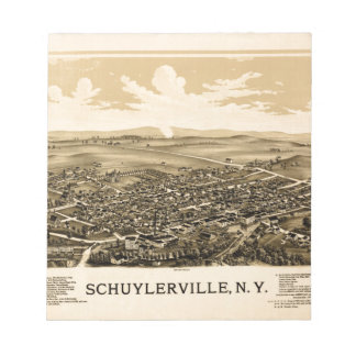 Schuylerville 1889 notepad