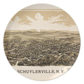 Schuylerville 1889 plate