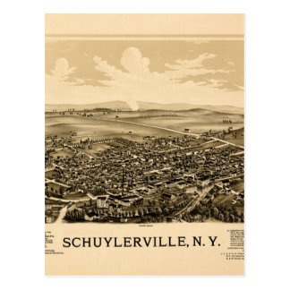 Schuylerville 1889 postcard