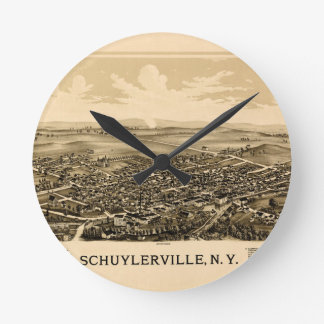 Schuylerville 1889 round clock