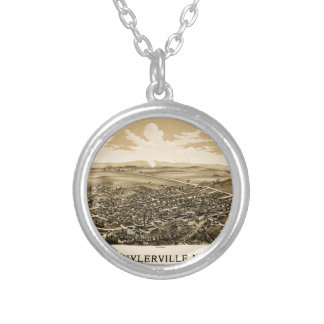 Schuylerville 1889 silver plated necklace