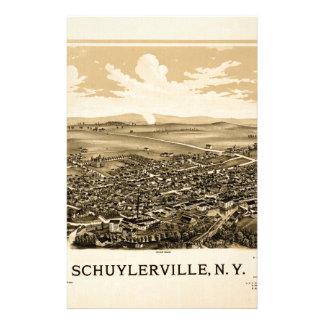 Schuylerville 1889 stationery