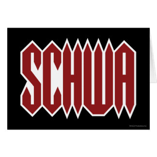 Schwa Greeting Card