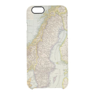 Schweden, Norwegen - Sweden and Norway Map Clear iPhone 6/6S Case