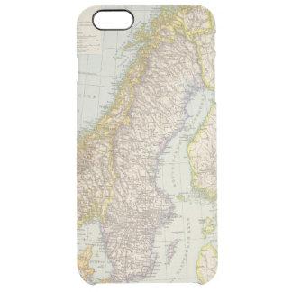 Schweden, Norwegen - Sweden and Norway Map Clear iPhone 6 Plus Case