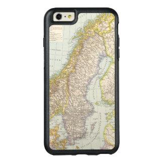 Schweden, Norwegen - Sweden and Norway Map OtterBox iPhone 6/6s Plus Case