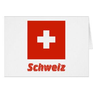 Schweiz Flagge mit Namen Card