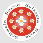 Schweiz  Suisse  Svizzera  Svizra Aufkleber Round Sticker