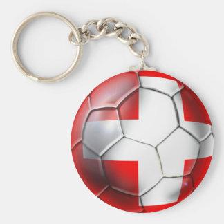 Schweiz Switzerland soccer ball fans gifts Keychain