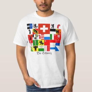 Schweiz Switzerland Suisse Svizzera Svizra Cantons T-Shirt