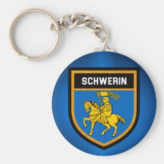 Schwerin Flag Basic Round Button Keychain