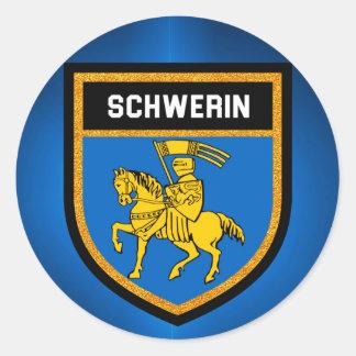 Schwerin Flag Classic Round Sticker