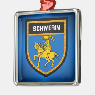 Schwerin Flag Metal Ornament