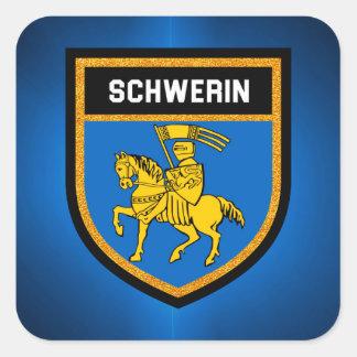 Schwerin Flag Square Sticker