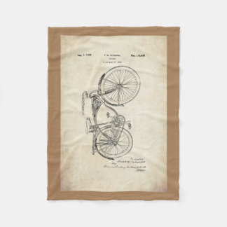Schwinn Bicycle Fleece Blanket